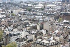 Vista no formulário Notre Dame de Paris Foto de Stock Royalty Free