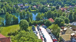 Vista no lago do agowskie do  de Å Foto de Stock Royalty Free