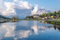 Vista no lago Misurina Imagem de Stock Royalty Free
