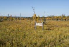 Vista no Lapland de Finlandia Imagens de Stock