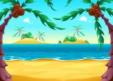 Vista no litoral Imagem de Stock