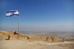 Vista no mar inoperante da fortaleza de Masada Imagem de Stock