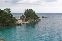 Vista no mar Ionian em Grécia Fotografia de Stock