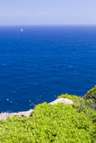 Vista no mar Mediterrâneo Imagens de Stock