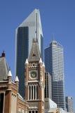 Vista no Midtown Perth imagens de stock