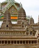 Vista no modelo de Angkor Wat dentro do templo de Emerald Buddha ou de Wat Phra Kaew, palácio grande, Banguecoque Fotografia de Stock Royalty Free