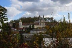 Vista no monastério de Basilian, Buchach foto de stock royalty free
