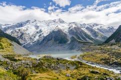 Vista no Mt Fuga do cozinheiro em Nova Zelândia Imagem de Stock