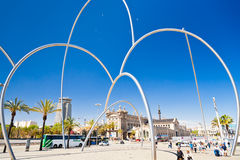 Vista no museu marítimo, Barcelona Fotografia de Stock Royalty Free