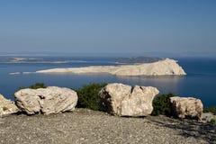 Vista no otok de Goli do console Fotografia de Stock Royalty Free