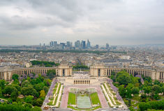 Vista no palácio de Chaillot. Foto de Stock