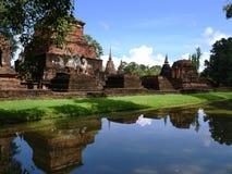 Vista no parque histórico de Sukhothai, Tailândia Imagem de Stock Royalty Free
