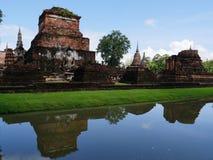Vista no parque histórico de Sukhothai, Tailândia Foto de Stock Royalty Free
