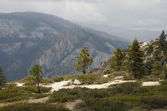 Vista no parque nacional de Yosemite Fotografia de Stock