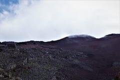 Vista no pico de Fujisan, Monte Fuji, Jap?o fotos de stock royalty free