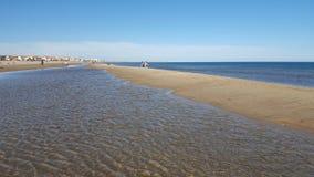 Vista no plage de Valras - Béziers - França Imagens de Stock Royalty Free