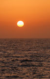 Vista no por do sol Fotografia de Stock