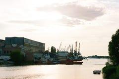 Vista no porto Fotografia de Stock Royalty Free