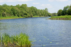 Vista no rio Imagens de Stock Royalty Free