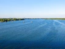 Vista no rio Dnieper foto de stock royalty free