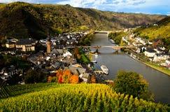 Vista no rio Mosel Imagem de Stock Royalty Free