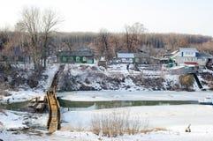 Vista no rio Trubezh em Ryazan Imagens de Stock