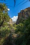 Vista no vale de Preveli, Creta fotografia de stock