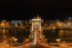 Vista nocturna del nchÃd del ¡de Budapest LÃ fotografía de archivo libre de regalías