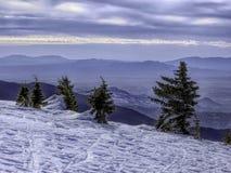 Vista noroeste de Ski Santa Fe às montanhas de Jemez Imagem de Stock Royalty Free