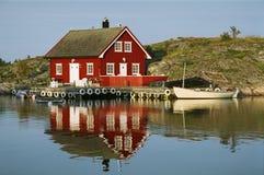 Vista norvegese tipica Immagini Stock Libere da Diritti