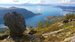 Vista Norvegia del mare Immagini Stock Libere da Diritti