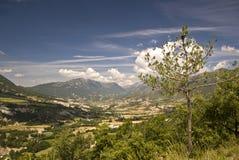 Vista nos Pyrenees espanhóis foto de stock royalty free
