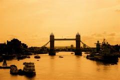 Vista nostálgica de Londres Imagen de archivo libre de regalías