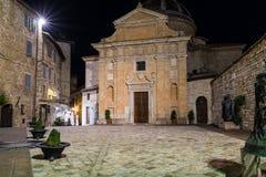 Vista notturna di Chiesa Nuova Immagini Stock Libere da Diritti