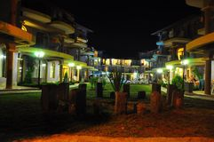 Vista notturna in hotel bulgaro Fotografia Stock