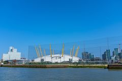 Vista O2 dell'arena Londra fotografia stock