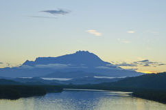Vista o Monte Kinabalu Foto de Stock Royalty Free
