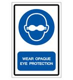 Vista o sinal opaco do símbolo da proteção ocular, ilustração do vetor, isolada na etiqueta branca do fundo EPS10 ilustração do vetor