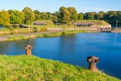 Vista o terraplenes de Naarden, Países Bajos foto de archivo libre de regalías