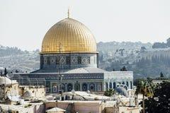 Vista occidentale della parete di Gerusalemme, moschea di Al-Aqsa Immagine Stock