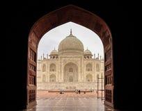 Vista orientale del Taj Mahal Fotografia Stock