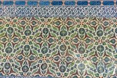 Vista orientale della piastrella di ceramica dell'ottomano da Topkapi Fotografia Stock Libera da Diritti