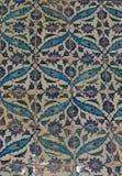 Vista orientale della piastrella di ceramica dell'ottomano da Topkapi Immagini Stock Libere da Diritti