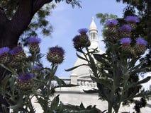 Vista original da igreja imagem de stock