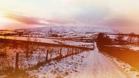 Vista original do monte do pendle - Reino Unido fotografia de stock