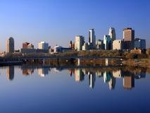 Vista orizzontale del centro di Minneapolis immagini stock libere da diritti