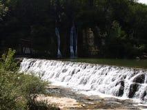 Vista orizzontale delle cascate Fotografia Stock