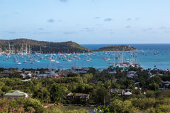 Vista over Falmouth Harbour Royalty Free Stock Images