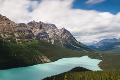 Vista over Peyto Lake - Long exposure version Stock Photo