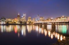 Vista paesaggio urbano di Portland, Oregon Fotografia Stock Libera da Diritti